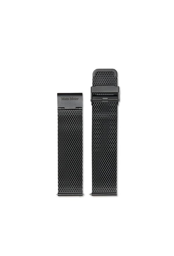 Mats Meier Bracelet montre acier maille 22 mm noir