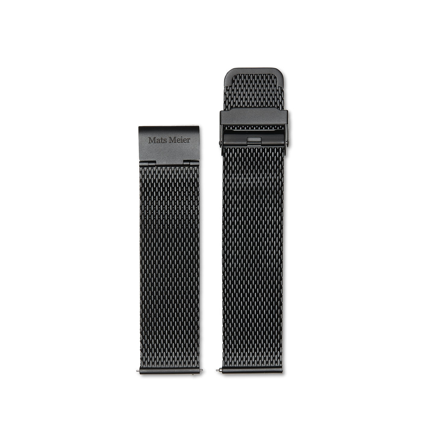 Mats Meier horlogeband 22 mm zwart