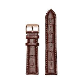 Mats Meier Leren horlogeband 22mm croco bruin