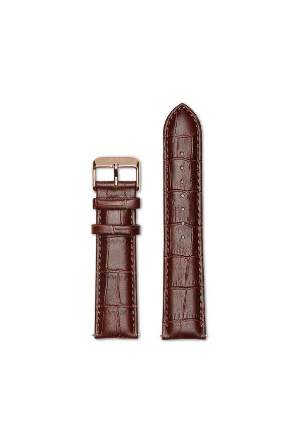 Mats Meier Leather strap 22 mm croco brown