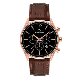 Mats Meier Grand Cornier chronograph mens watch black / brown