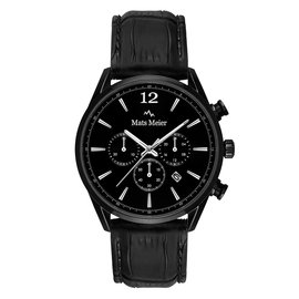 Mats Meier Grand Cornier chronograph watch matte black