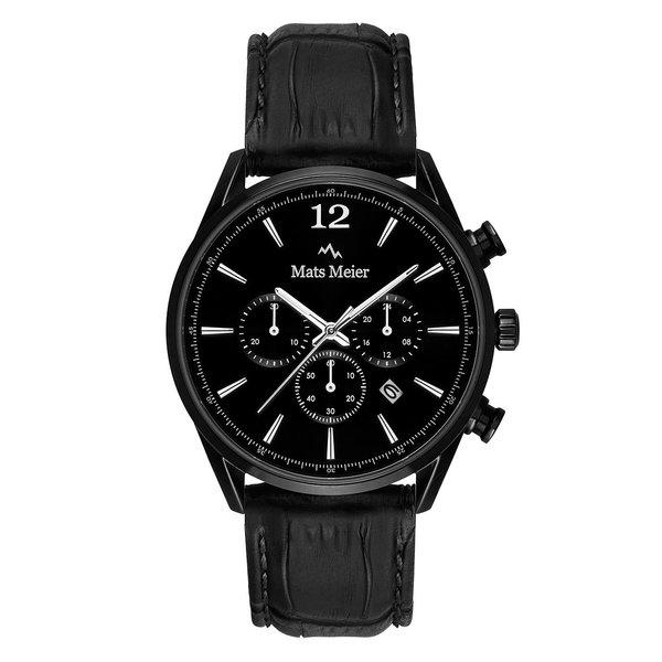 Mats Meier Grand Cornier chronograaf horloge mat zwart