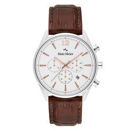 Mats Meier Grand Cornier Chronograph weiß/braun