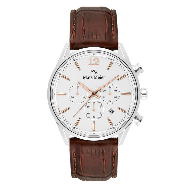 Mats Meier Grand Cornier chronograph watch white/brown