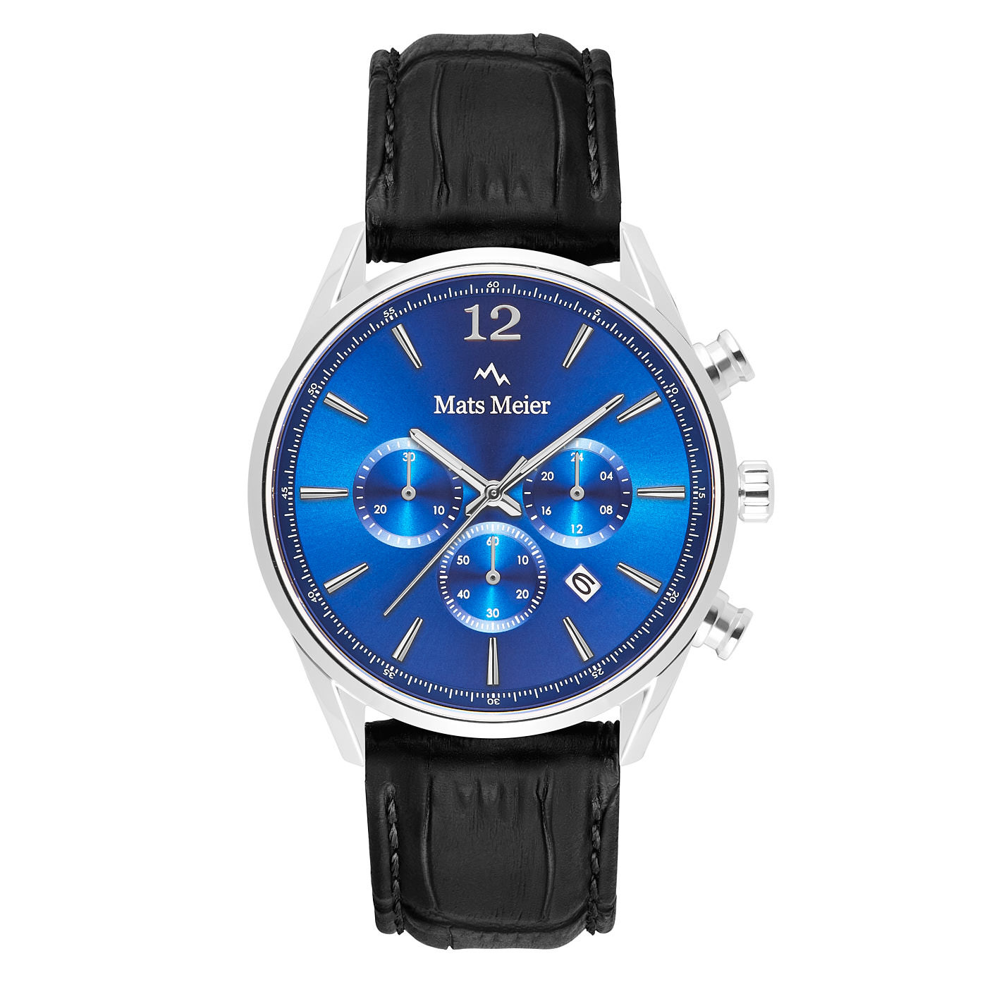 Mats Meier Grand Cornier chronograph mens watch blue / black