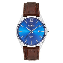 Mats Meier Castor mens watch blue / brown