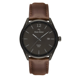 Mats Meier Castor watch gunmetal/dark brown