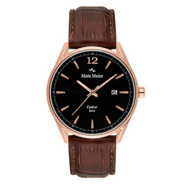 Mats Meier Castor mens watch black / brown