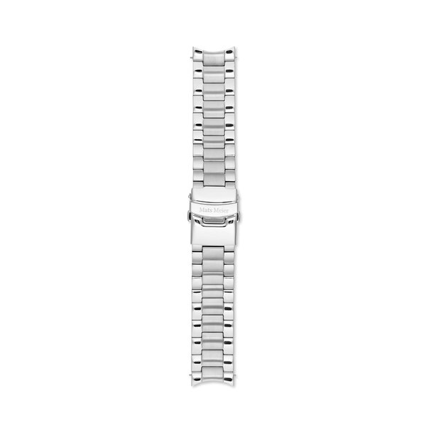 Mats Meier Ponte Dei Salti stainless steel strap 22mm silver colored