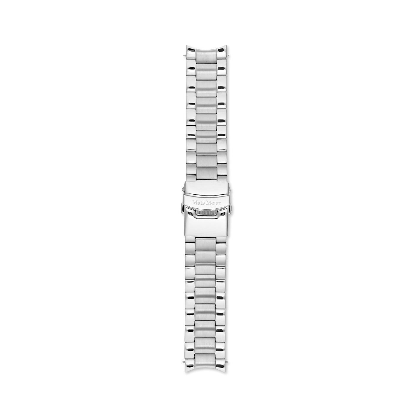 Mats Meier Cinturino in acciaio inossidabile da 22 mm color argento