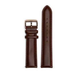 Mats Meier Leren horlogeband 22mm bruin