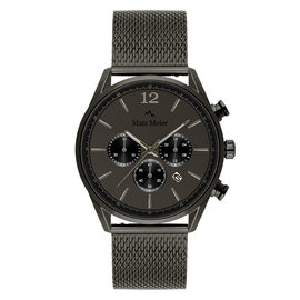 Mats Meier Grand Cornier chronograaf horloge mat gunmetal mesh