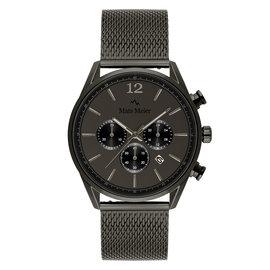 Mats Meier Grand Cornier chronograph watch matte gunmetal mesh