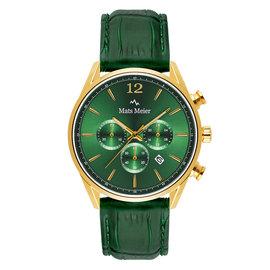 Mats Meier Grand Cornier chronograaf horloge groen/goudkleurig staal
