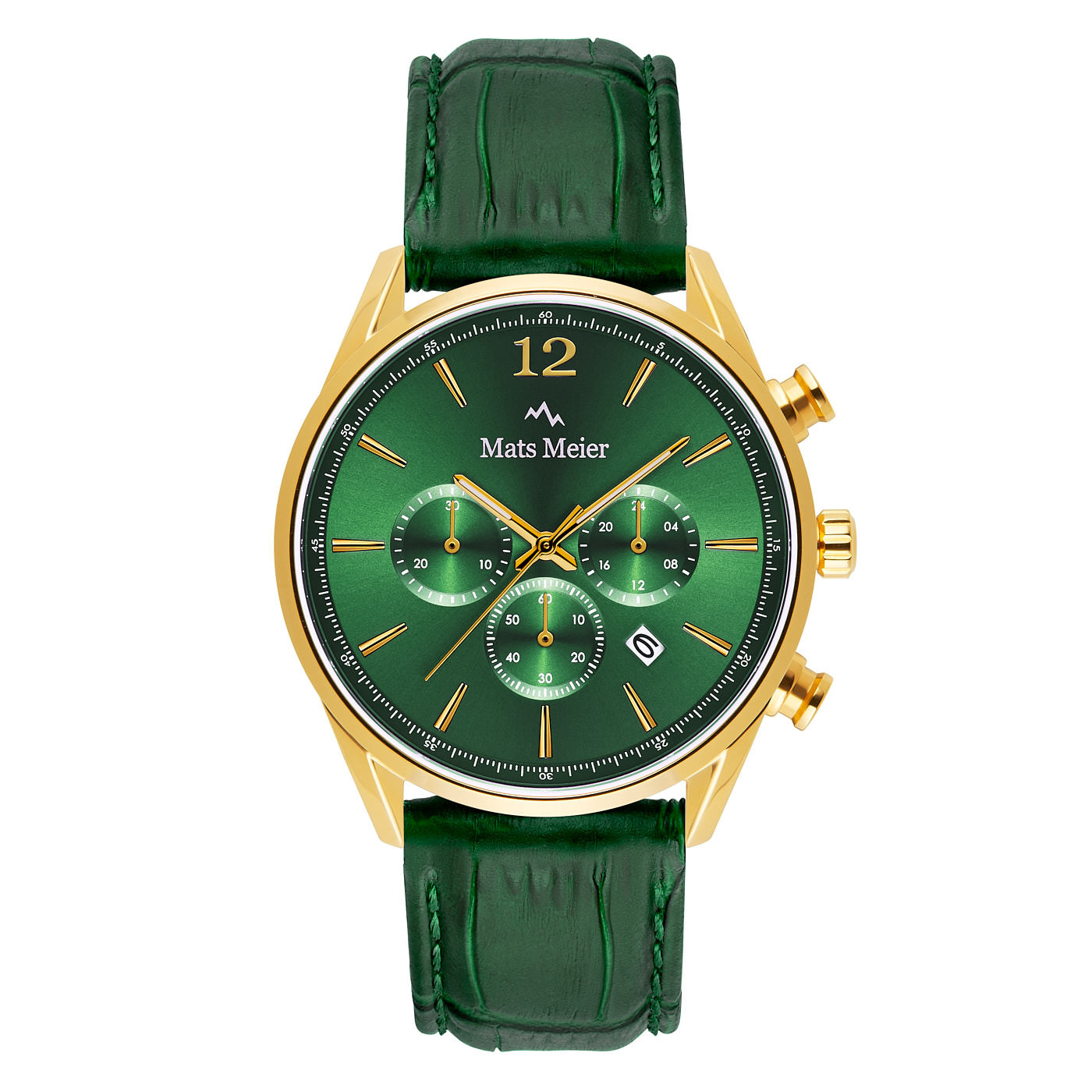 Mats Meier Grand Cornier montre chronographe vert / couleur or