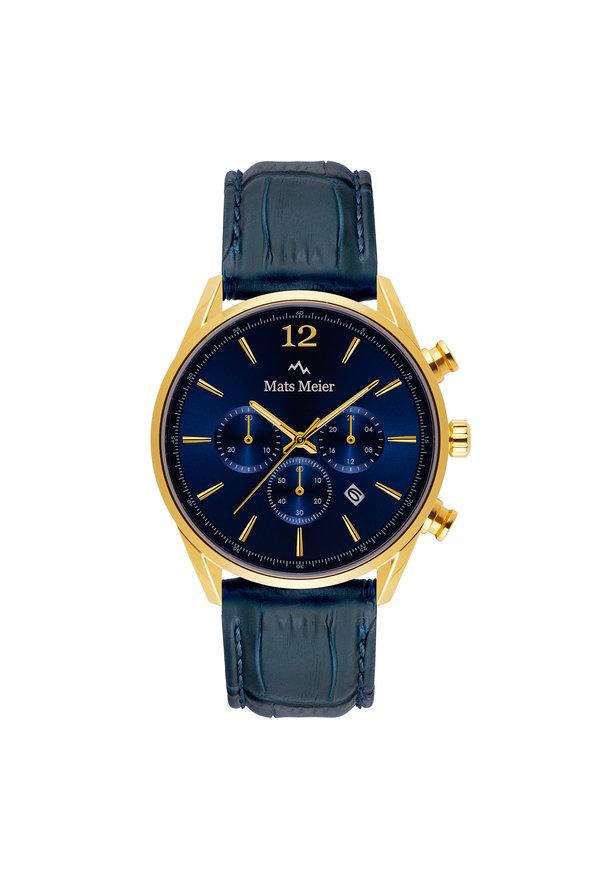 Mats Meier Grand Cornier Chronograph blau/goldfarben
