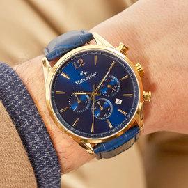 Mats Meier Cronografo Grand Cornier blu/dorato
