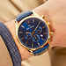 Mats Meier Grand Cornier montre chronographe bleu / couleur or