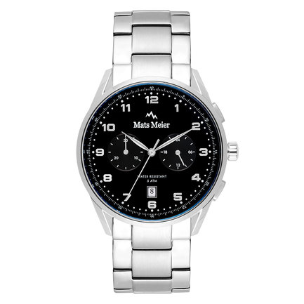 Mats Meier Mont Vélan chronograph mens watch black / silver colored