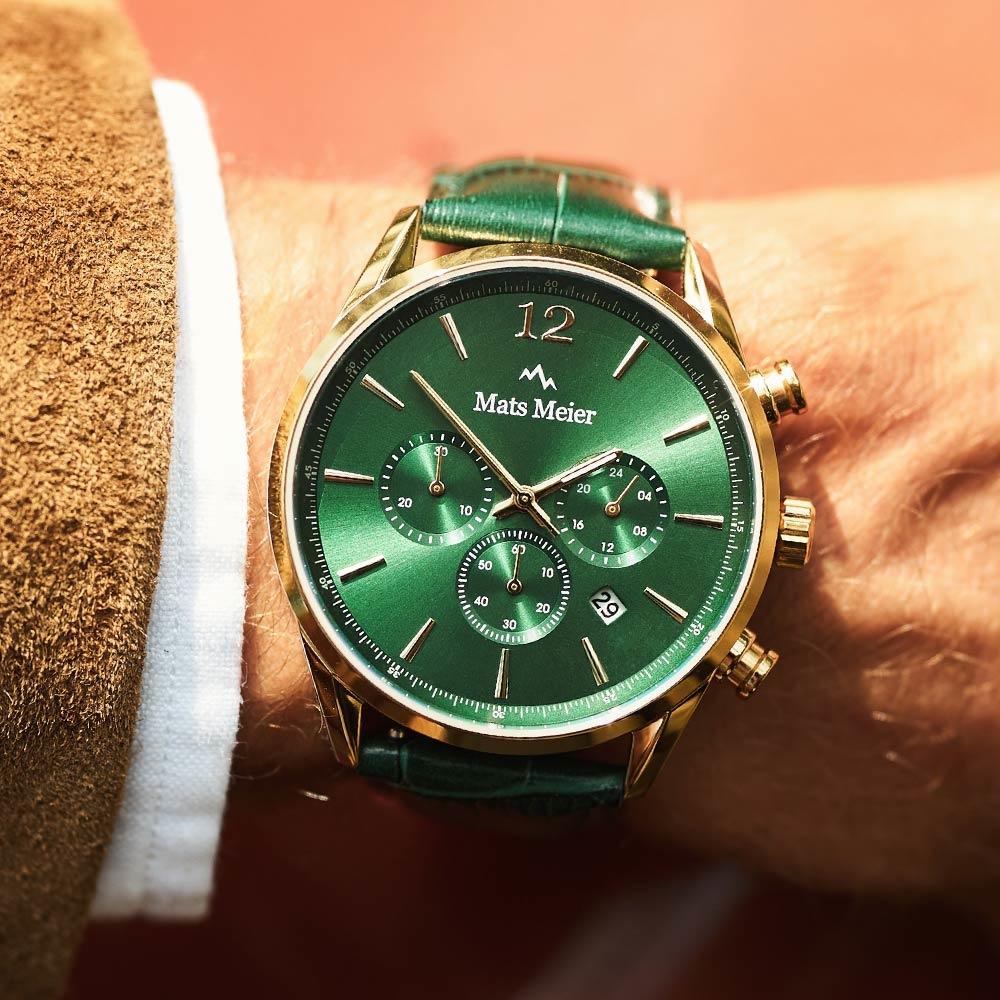 Mats Meier Cronografo Grand Cornier verde/dorato