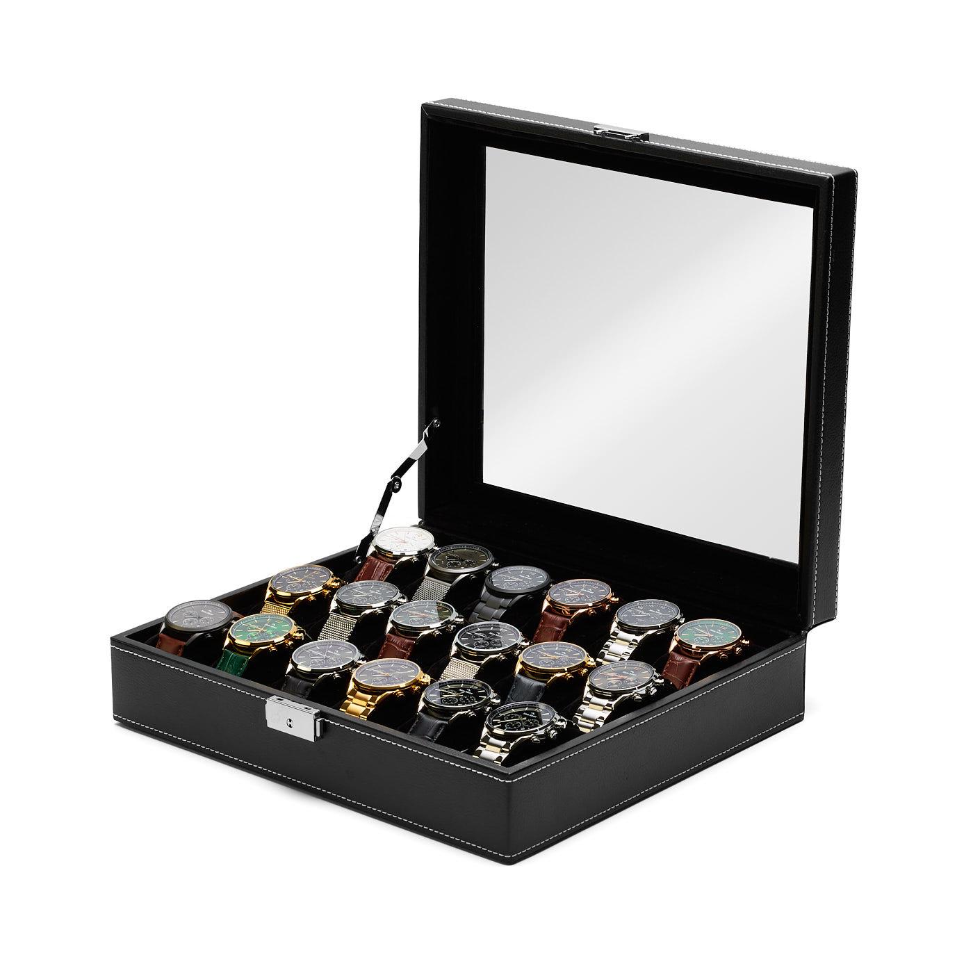 Mats Meier Mont Fort watchbox black - 18 watches