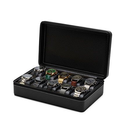 Mats Meier Mont Fort watchbox black - 10 watches
