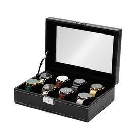 Mats Meier Mont Fort Uhrenbox schwarz - 8 Uhren