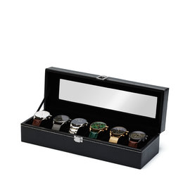 Mats Meier Mont Fort watchbox black - 6 watches