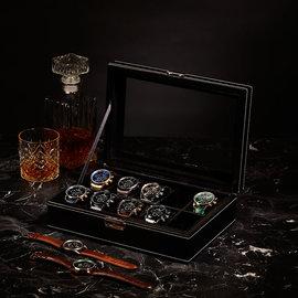 Mats Meier Mont Fort horlogebox zwart - 10 horloges