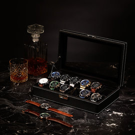 Mats Meier Mont Fort watchbox black - 12 watches
