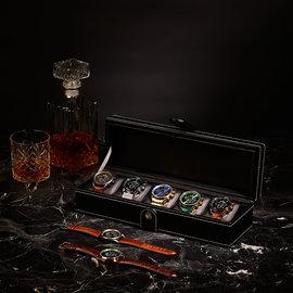 Mats Meier Mont Fort watchbox black - 5 watches