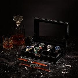 Mats Meier Mont Fort horlogebox zwart - 8 horloges