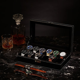Mats Meier Mont Fort watchbox black - 12 watches