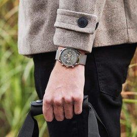 Mats Meier Grand Cornier chronograaf herenhorloge grijs / zilverkleurig