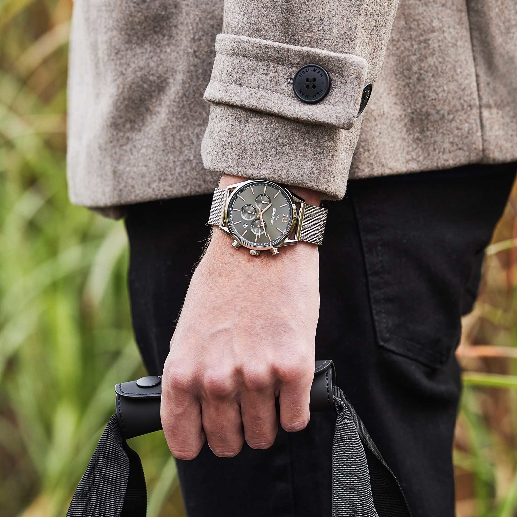Mats Meier Grand Cornier chronograph Grau / Silberfarben