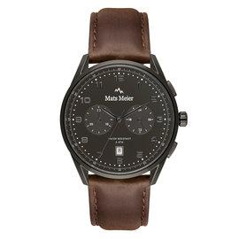 Mats Meier Mont Vélan chronograaf herenhorloge zwart / bruin