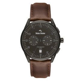 Mats Meier Mont Vélan chronograph black / brown