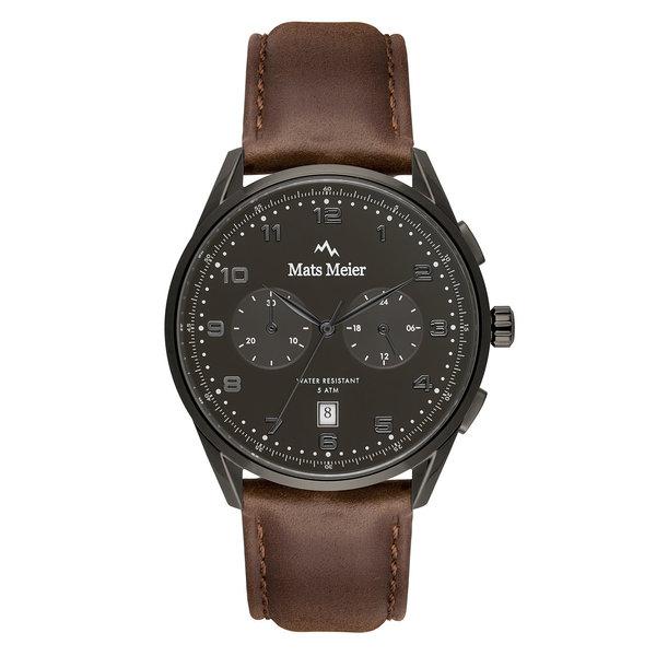 Mats Meier Mont Vélan chronograph black / brown