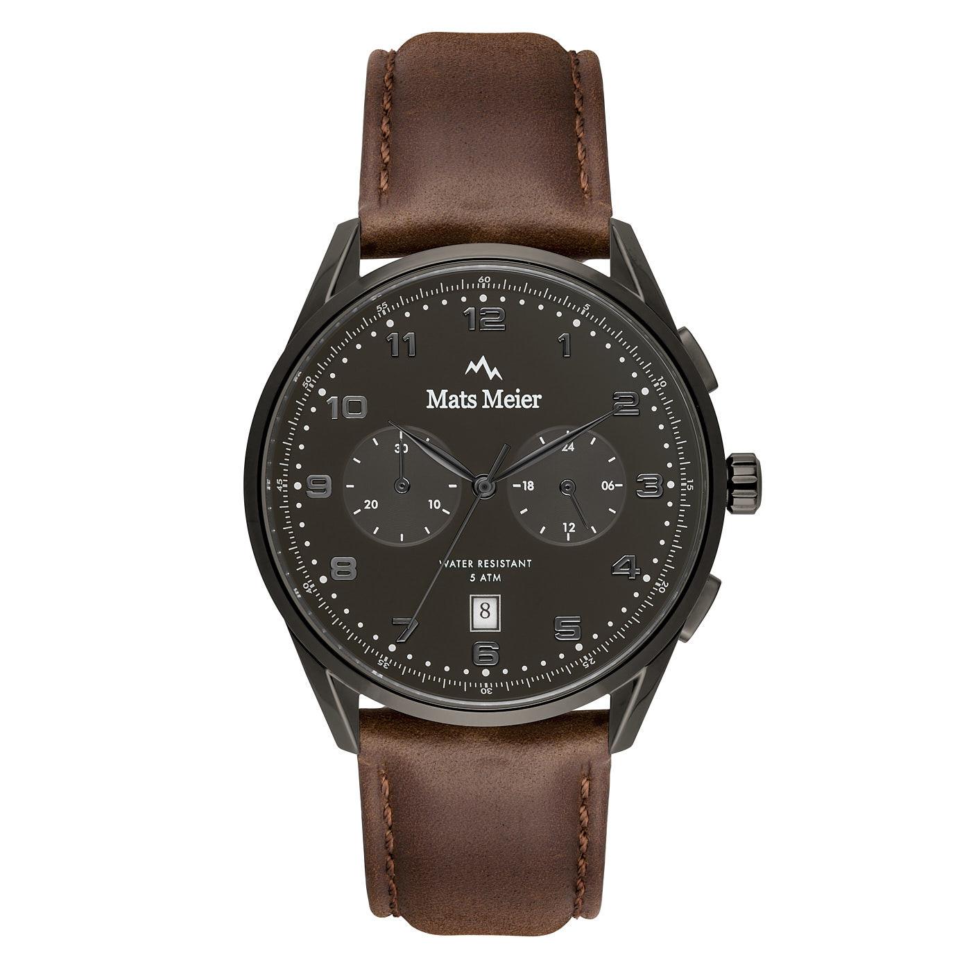 Mats Meier Mont Vélan chronographe gris / marron