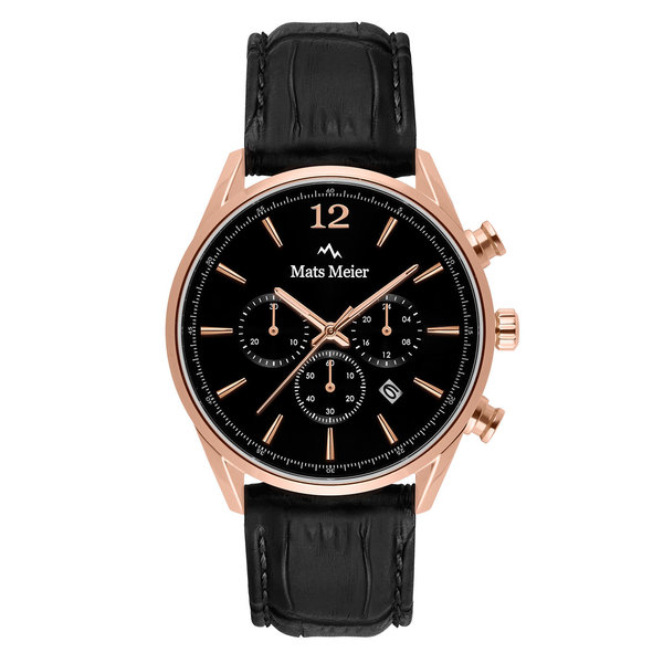 Mats Meier Grand Cornier cronografo nero / color oro rosa