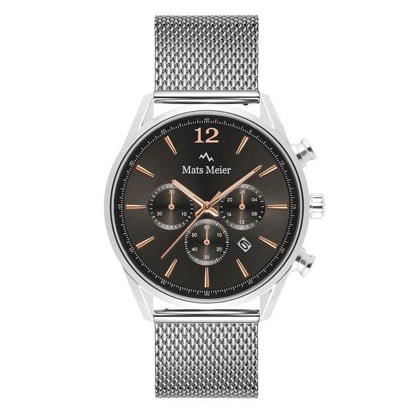 Mats Meier Grand Cornier chronograph grey / silver colored