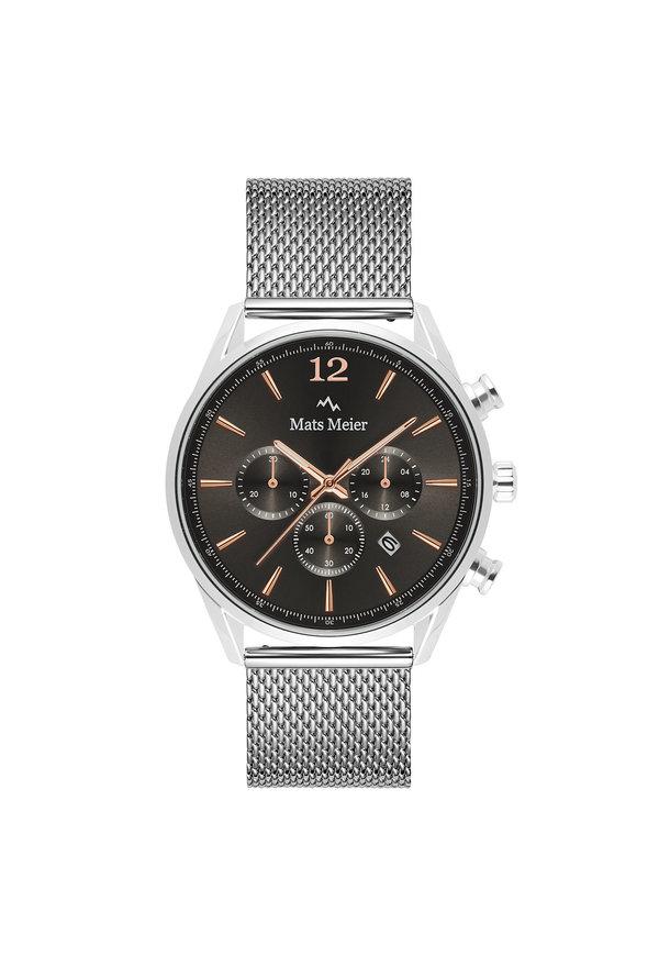 Mats Meier Grand Cornier kronografklocka grå / silverfärgad