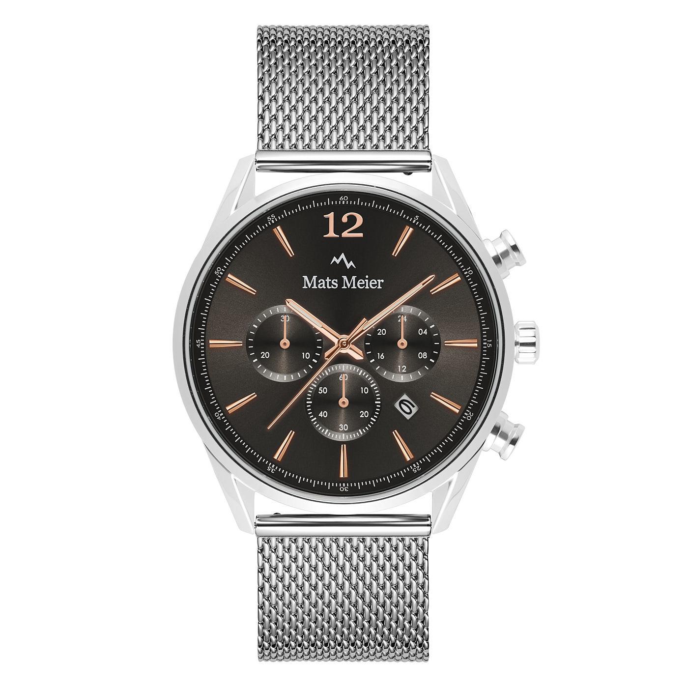 Mats Meier Grand Cornier kronografur grå / sølvfarvet