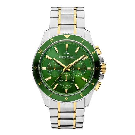 Mats Meier Ponte Dei Salti Cronografo Orologio da uomo Argento / Verde