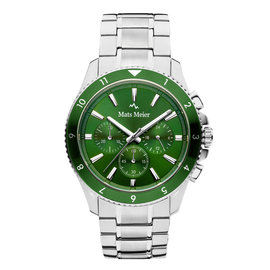 Mats Meier Ponte Dei Salti Mens Watch Silver / Green