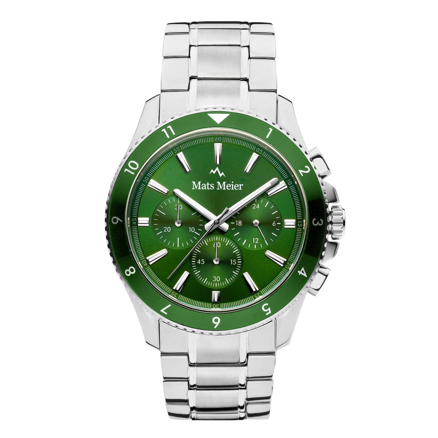 Mats Meier Ponte Dei Salti Mens Watch Silver / Green
