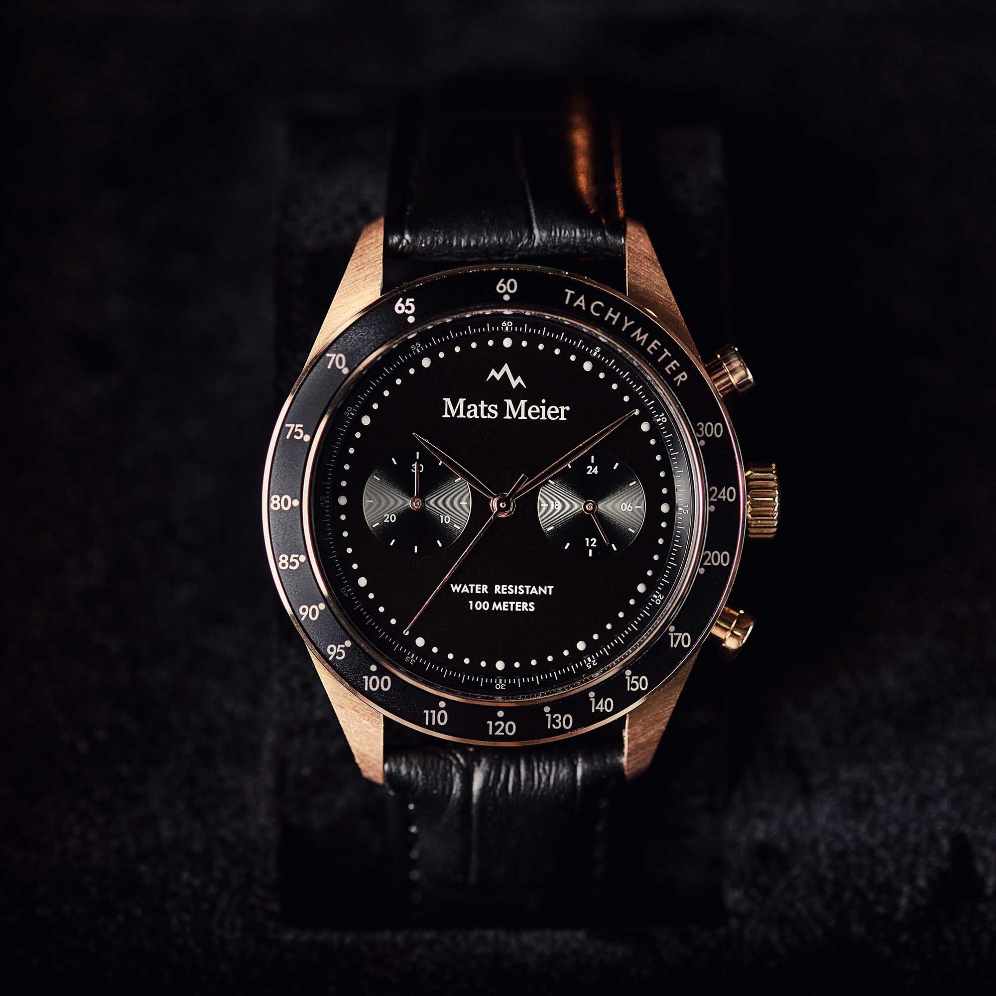 Mats Meier Arosa Racing Chronohraph watch black