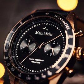 Mats Meier Arosa Racing Montre chronographe noir
