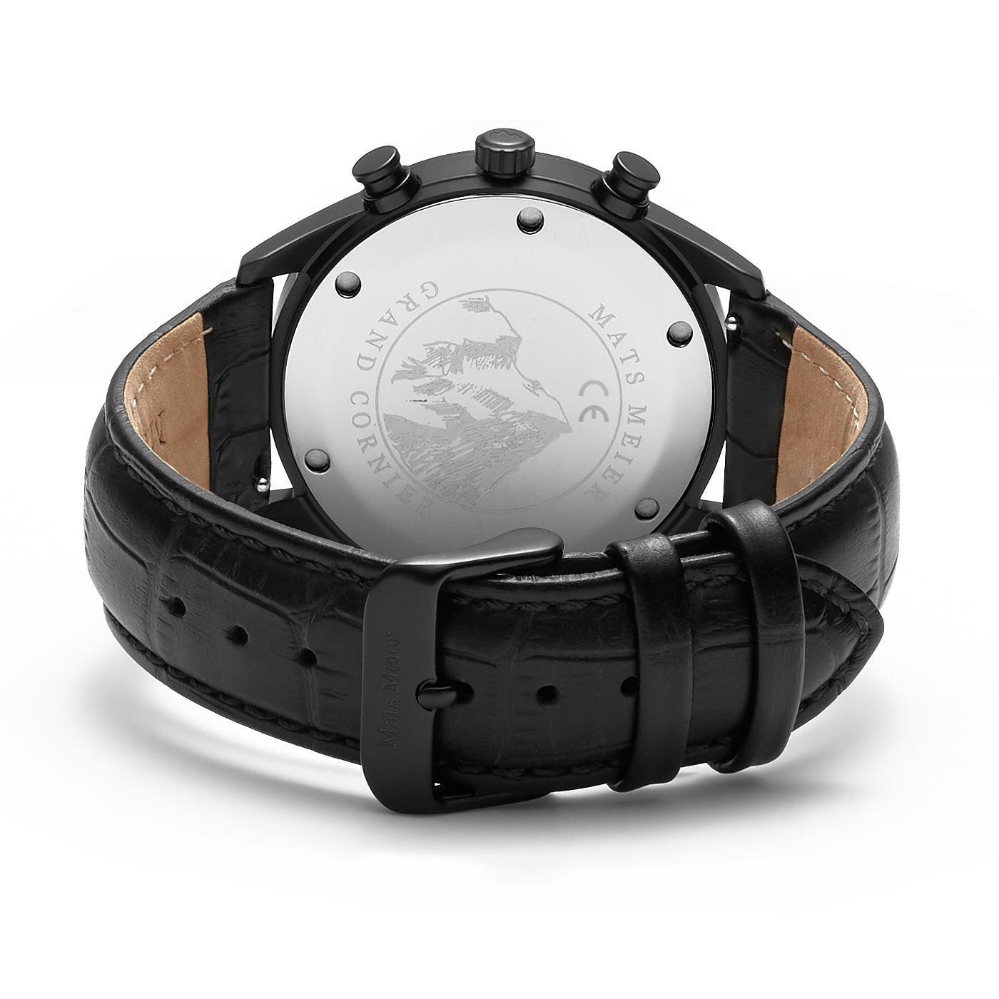 Mats Meier Grand Cornier montre chronographe mat noir
